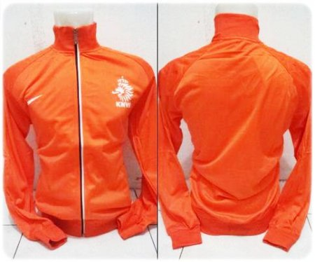 Jaket Bola  Jaket Belanda Orange World Cup 2014