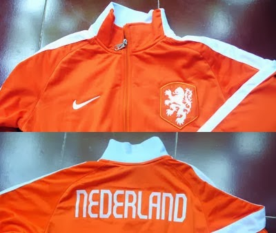 Jaket Bola  Jaket Belanda Orange World Cup 2014 3