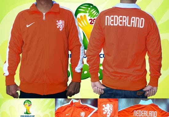 Jaket Bola  Jaket Belanda Orange World Cup 2014 4