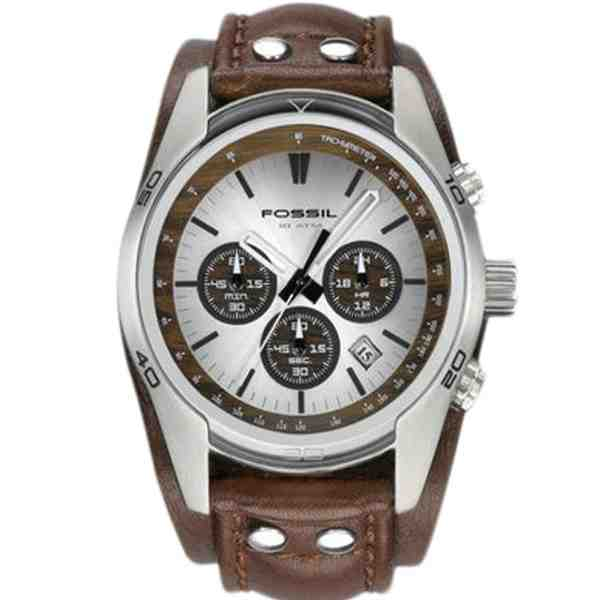 Jual Fossil CH2565 Coachman Chronograph Brown Leather ...