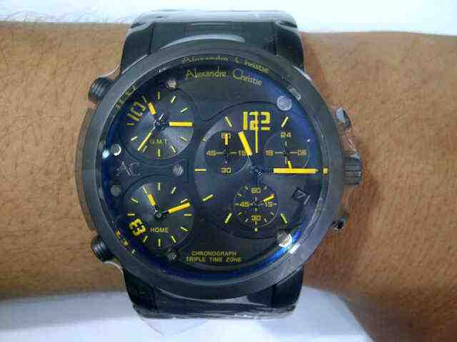 Alexandre Christie AC 6229 All Black 6229 black index kuning