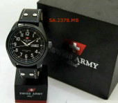 Swiss Army 2378 Black White Leather