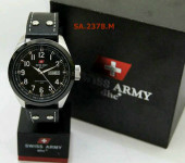 Swiss Army 2378 Silver White Leather