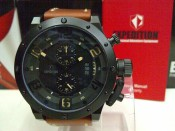 Expedition 6381 Black Steel Brown Leather