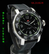Swiss Army 2146 Grey Silver Rubber
