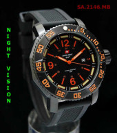 Swiss Army 2146 Orange Black Rubber