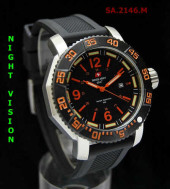 Swiss Army 2146 Orange Silver Rubber