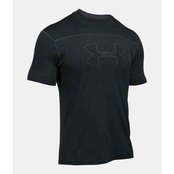 Kaos Under Armour Threadborne Rashguard Hiking Fitted Shirt Black Murah  Original df6fb99870