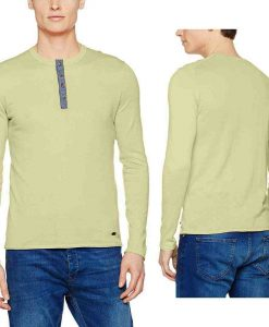 S Oliver Henley Button Long Sleeve Soft Green Original