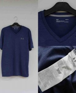 Under Armour Heatgear V-Neck Tshirt Navy Original