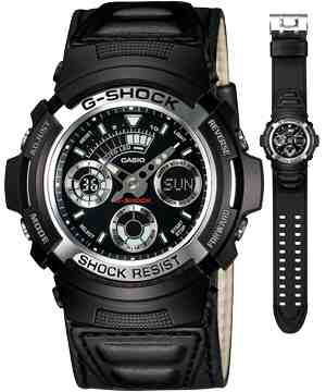 G- Shock AW 590 (Rubber &Leather)